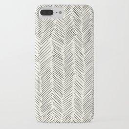 Herringbone Black on Cream iPhone Case