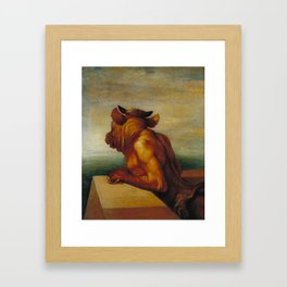 George Frederic Watts - The Minotaur Framed Art Print