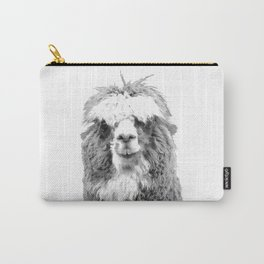 Black and White Alpaca Carry-All Pouch