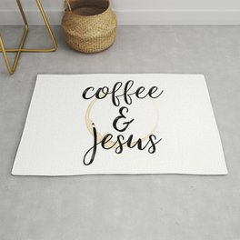 Coffee and Jesus Rug