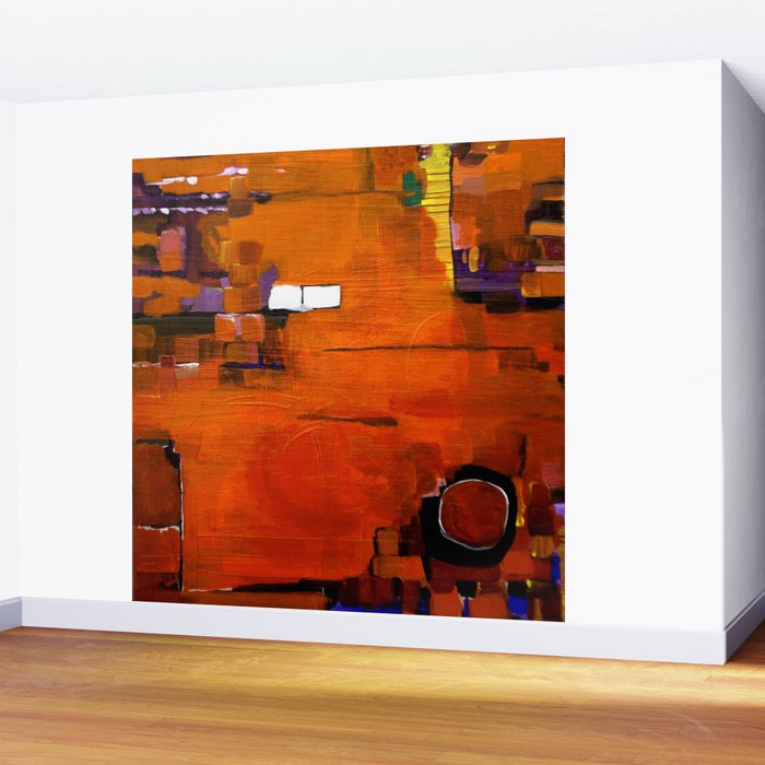 Abstract Orange Wall Mural