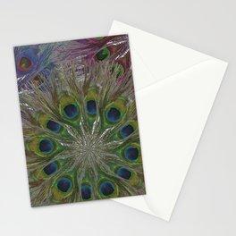 Peacock Feather: Many Mandalas Stationery Cards