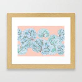 Tropical Sea Grape Leaves Framed Art Print