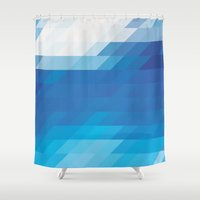 ice Shower Curtains featuring Ice by WaXaVeJu