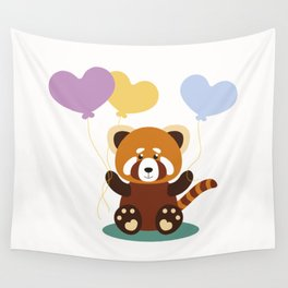 Lovely Red Panda Wall Tapestry
