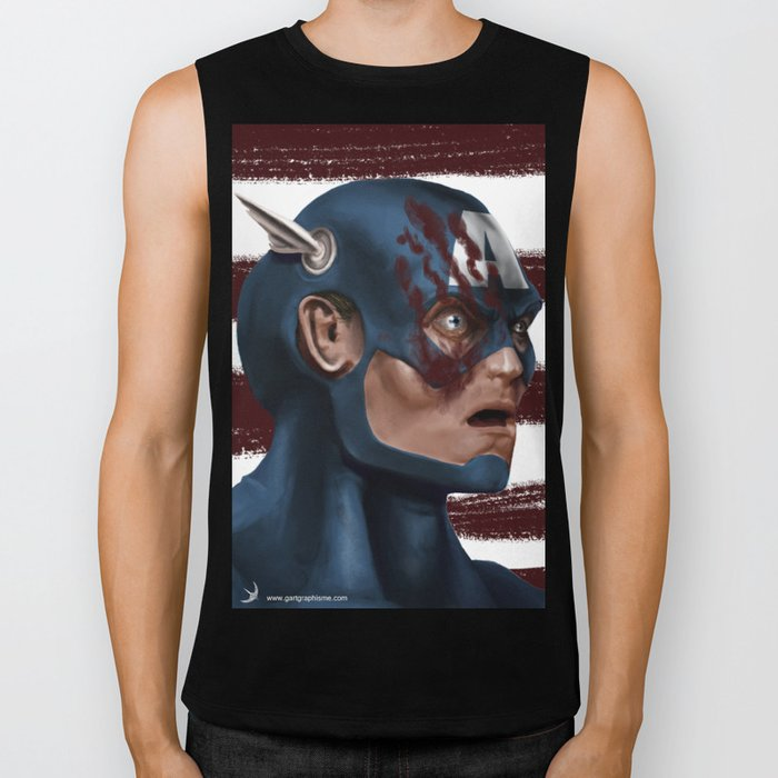 THE FACE COLLECTION - CAPTAIN AMERICA Biker Tank
