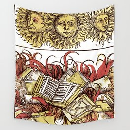 Book Burning Wall Tapestry