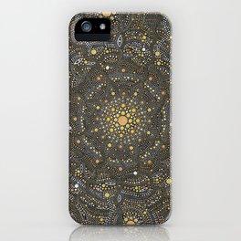 Cosmic Breath - Dot Mandala iPhone Case