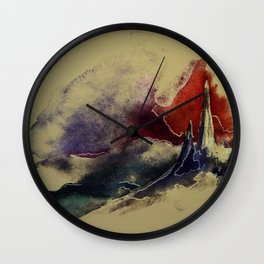 Abstract Castle Wall Clock