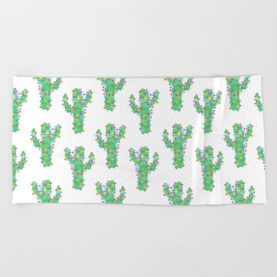 Festive Cacti Beach Towel