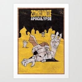 Zombunnie Apocalypse  Art Print