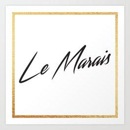 """""""Le Marais"""" by Ashley Crawley Art Print"""