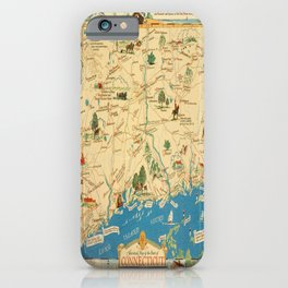 Historical Map of Connecticut  iPhone Case