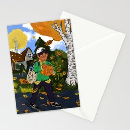 Autumn Breeze Stationery Cards