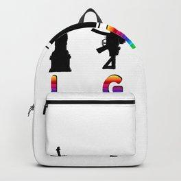 Liberty Guns Beers Texas Funny LGBT Backpack