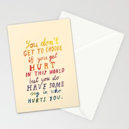 If You Get Hurt Poster Stationery Cards