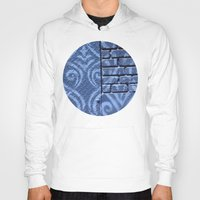 damask Hoodies featuring Industrial Damask by Jason Simms