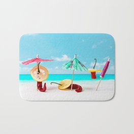The Red, the Hot, the Chili on the beach Bath Mat