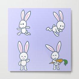Stickimals - Bunny Metal Print