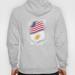 Argentinian American Flag Hoody