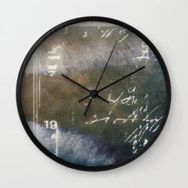 Vintage Writing Cyanatope Print Wall Clock