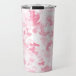 Abstract Flora Millennial Pink Travel Mug