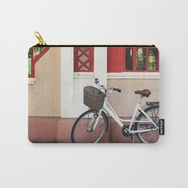 White vintage bike Carry-All Pouch