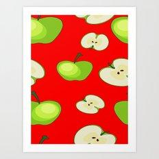 Apple fruit pattern Art Print