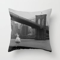 dumbo Throw Pillows featuring dumbo by Gray