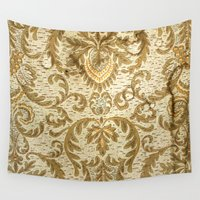 wallpaper Wall Tapestries featuring Wallpaper by floor-pies