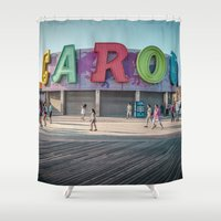 carousel Shower Curtains featuring Carousel  by MikeMartelli