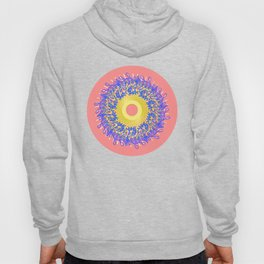 Mandala #105, Peach and Sunshine Hoody