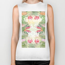 Grow As You Are Biker Tank