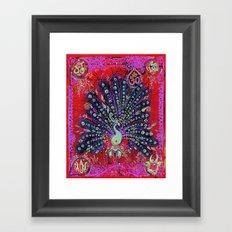 Royal Peacock Framed Art Print