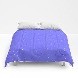 Lavender Blue Shambolic Bubbles Comforters
