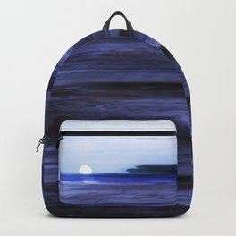 Distant Islands in the moonlight Seascape Backpack