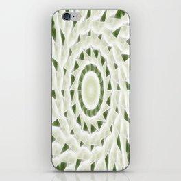 Green White Kaleidoscope Art 11 iPhone Skin