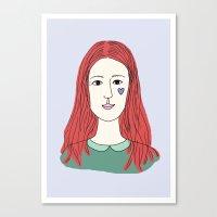 redhead Canvas Prints featuring Redhead by Hannah Stevens