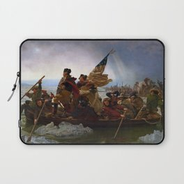 Washington Crossing the Delaware by Emanuel Leutze Laptop Sleeve