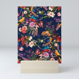 FLORAL AND BIRDS XII Mini Art Print