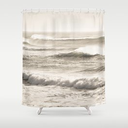 Windswept Waves Shower Curtain