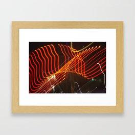 Motion Lights Framed Art Print