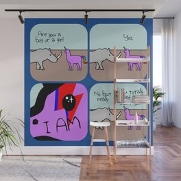 I Am What I Am (Horned Warrior Friends) Wall Mural