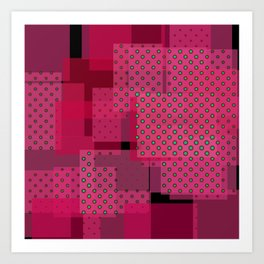 Pink Patchwork Art Print