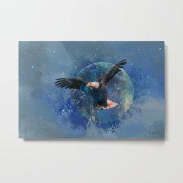Eagle Moon Metal Print