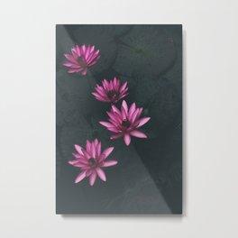 pink and black Metal Print