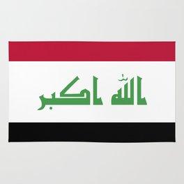 Iraq flag emblem Rug