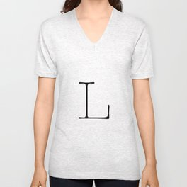 Letter L Typewriting Unisex V-Neck