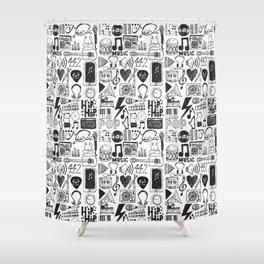 Music Doodles Shower Curtain