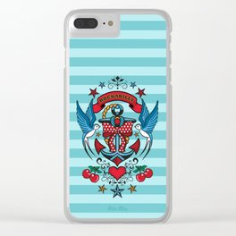 Rockabilly Style No.1 Clear iPhone Case